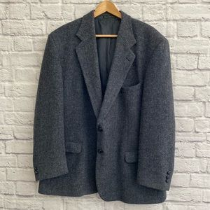 HARRIS TWEED Hand Woven Wool Blazer Suit Jacket